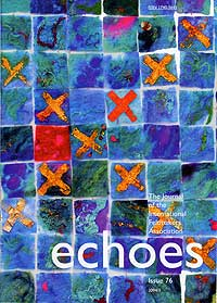 cover of 'Echoes', featuring Mary-Clare's work