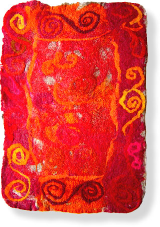 Abstract textile art - 'Kyrgyz Mat'